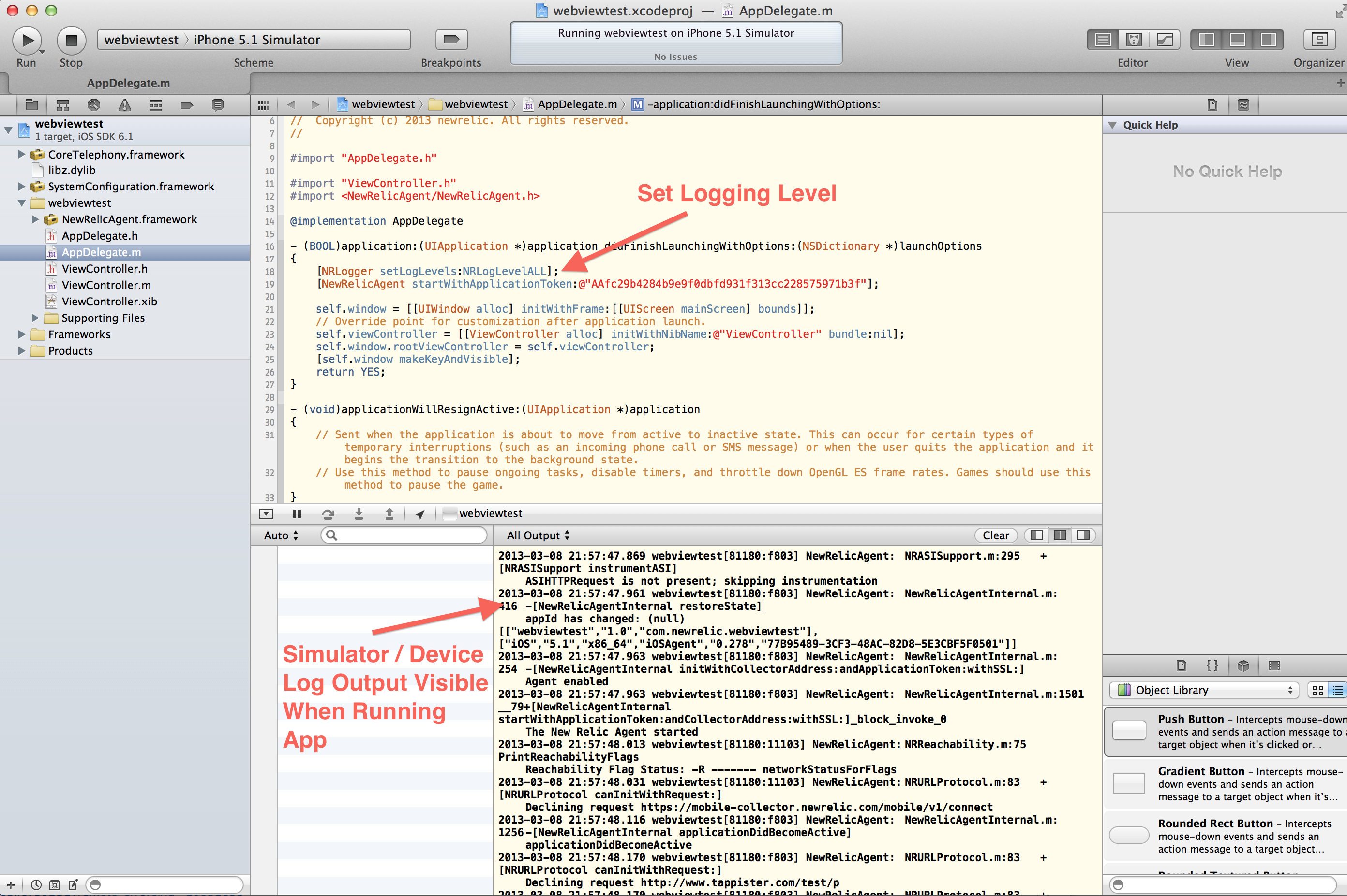 How do I get logs at all in XCode? - Mobile - New Relic