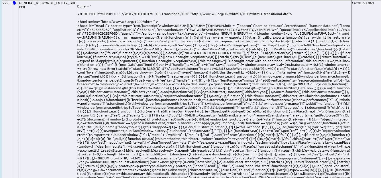IIS Log Failed request tracing truncated buffer -  NET Agent