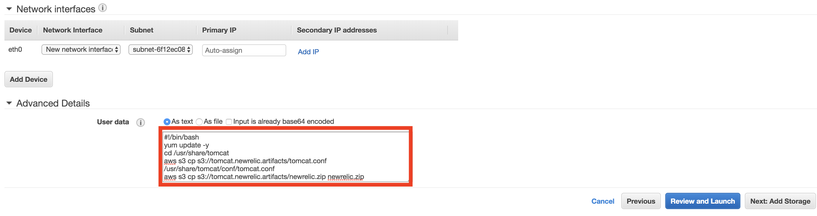 Relic Solution: Bootstrap the Java Agent to Your AWS AMI Launched